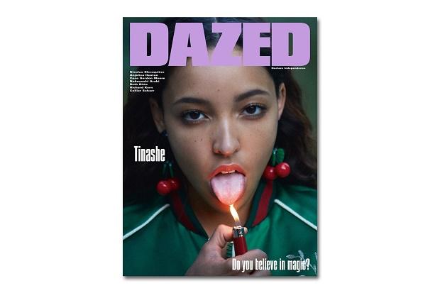 Тинаши на обложке зимнего выпуска журнала DAZED Magazine