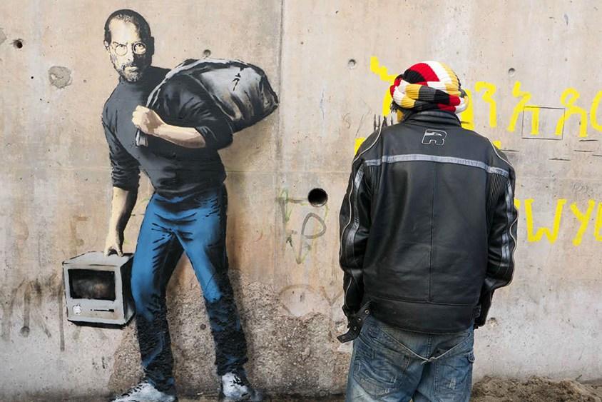 Бэнкси создал интерактивное граффити у посольства Франции в Лондоне