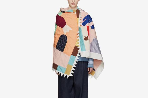 Безразмерный шарф, в стиле пэчворк от Junya Watanabe