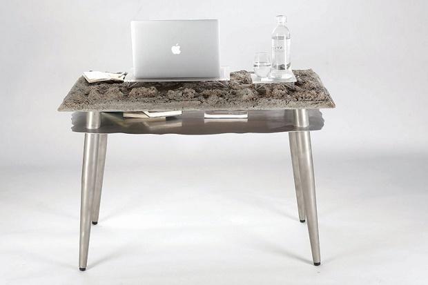 Дизайнер Heinrik Ng Chak Kwan сделал стол с имитацией природного ландшафта