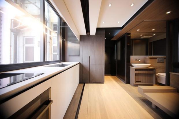LAAB осуществил smart-меблировку квартиры в 309 квадратных футов в центре Гонконга
