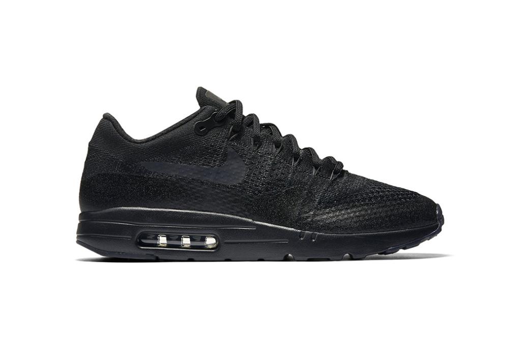 В следующем месяце выходят черные кроссовки Nike Air Max 1 Ultra Flyknit