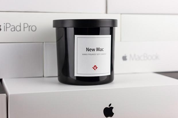Свеча с ароматом новой техники Apple