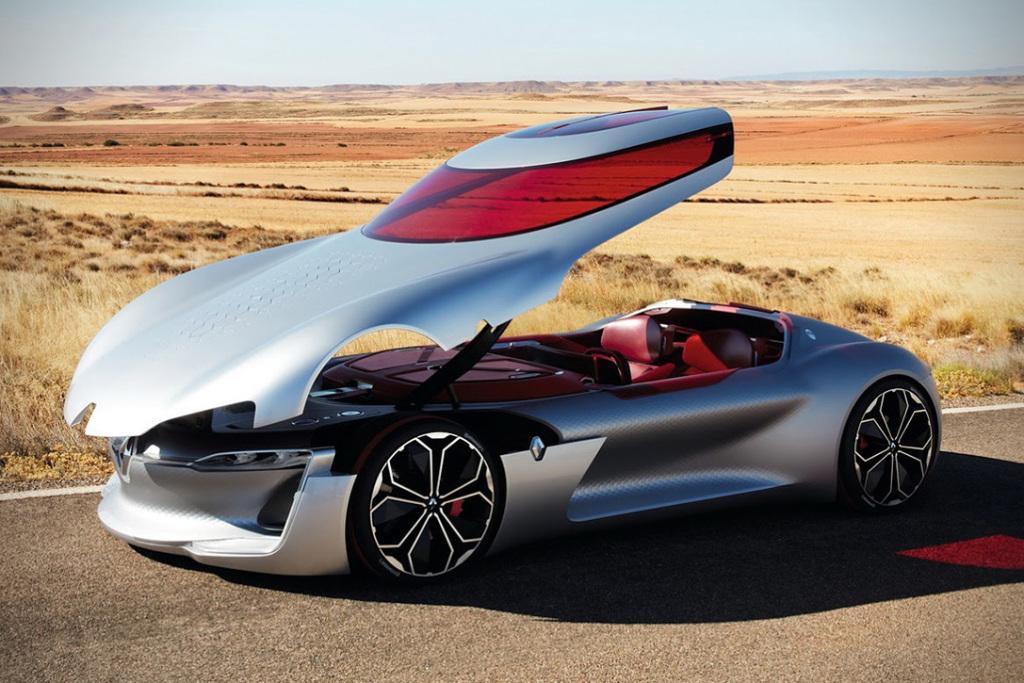 Renault Trezor: высокотехнологичный суперкар с «формульным» двигателем