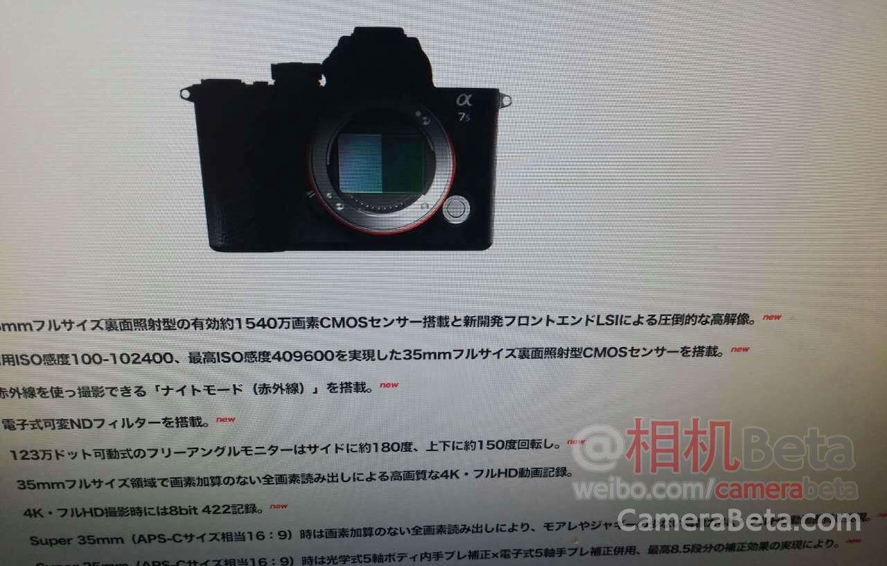 Это Sony A7S III?