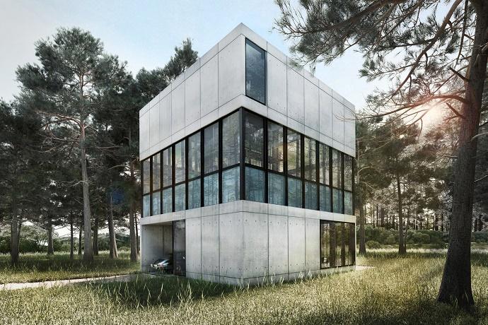Концепция Villa Clessidra компании LAAV Architects с плавательным бассейном посредине
