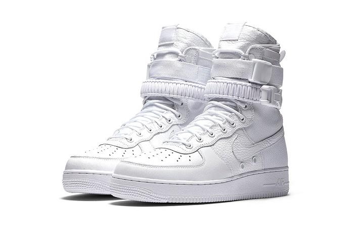 """Nike перезапускает эксклюзивно в Азии SF Air Force 1 в роскошном цвете """"Triple White"""""""