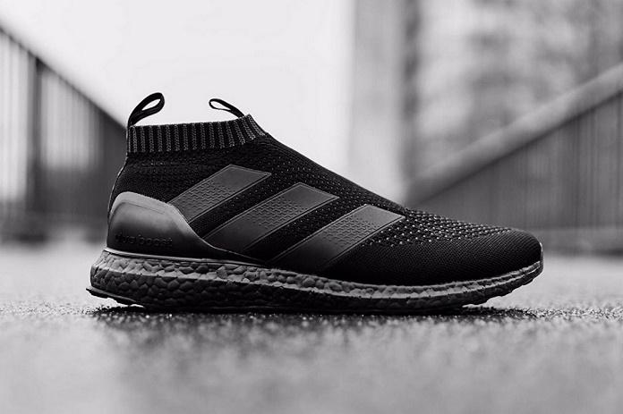 """Детальные снимки кроссовок ACE16+ UltraBOOST от adidas в цвете """"Triple Black"""""""