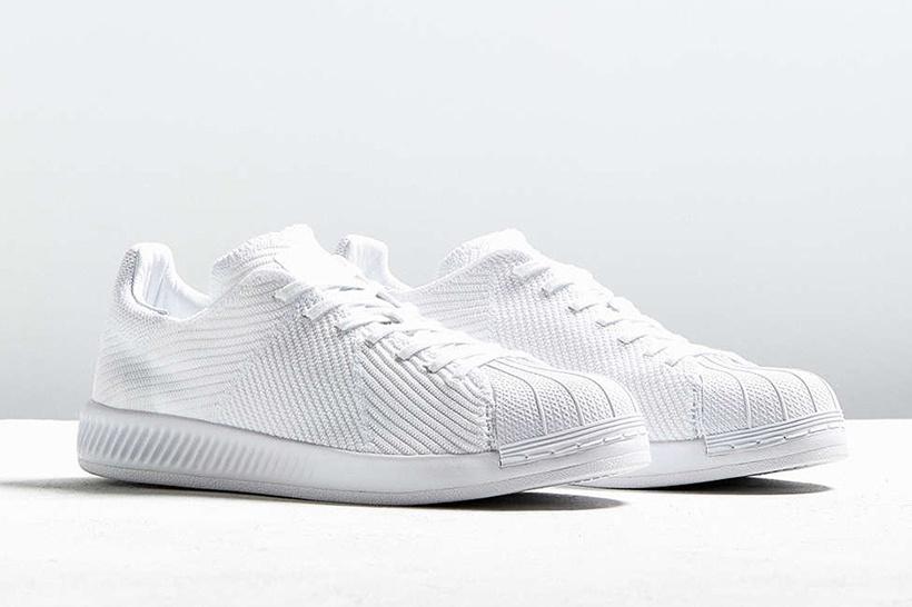 """Кроссовки adidas Originals Superstar BOUNCE в цвете """"Triple White"""" Primeknit 0db56689ec0"""
