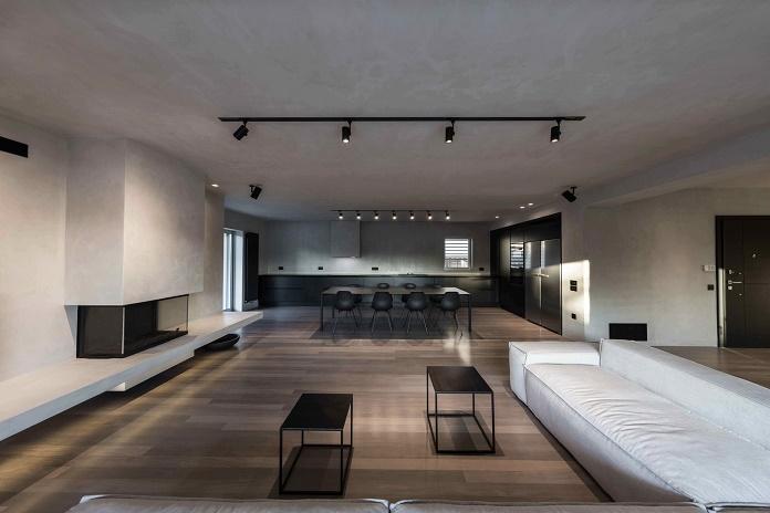 Минималистичный интерьер квартиры в Афинах