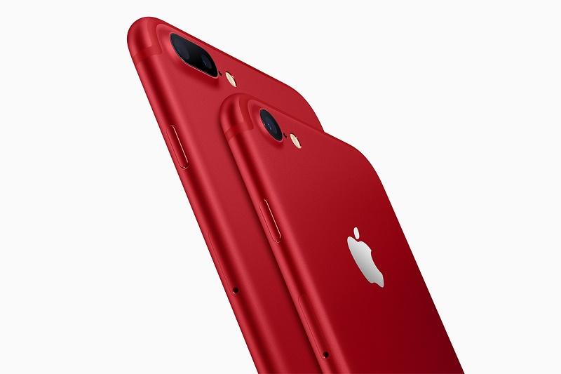 Apple представила красные iPhone 7 и iPhone 7 Plus