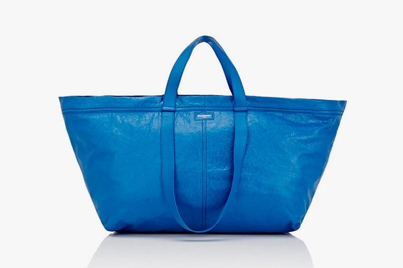 Balenciaga представил весьма недешевую версию известной сумки для покупок IKEA FRAKTA