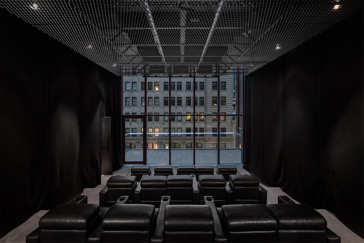 Кадры из башни 56 Leonard «Jenga» в Нью-Йорке