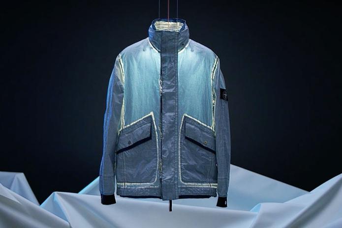 Процесс создания garment-dyed курток Dyneema® от Stone Island