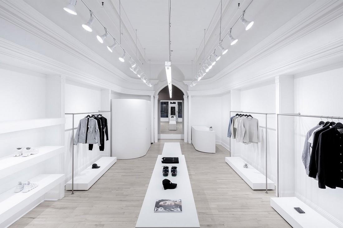 Омар Ганди объединил минимализм и монохромность в дизайне магазина в Галифаксе