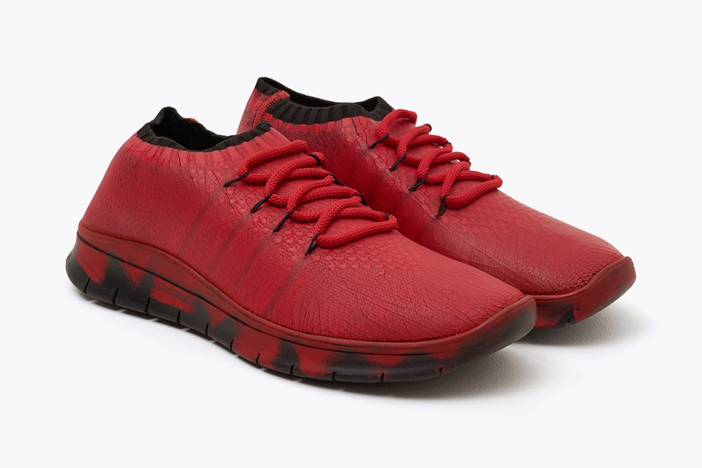 Красные и роскошные Paint-Inspired кроссовки Maison Margiela
