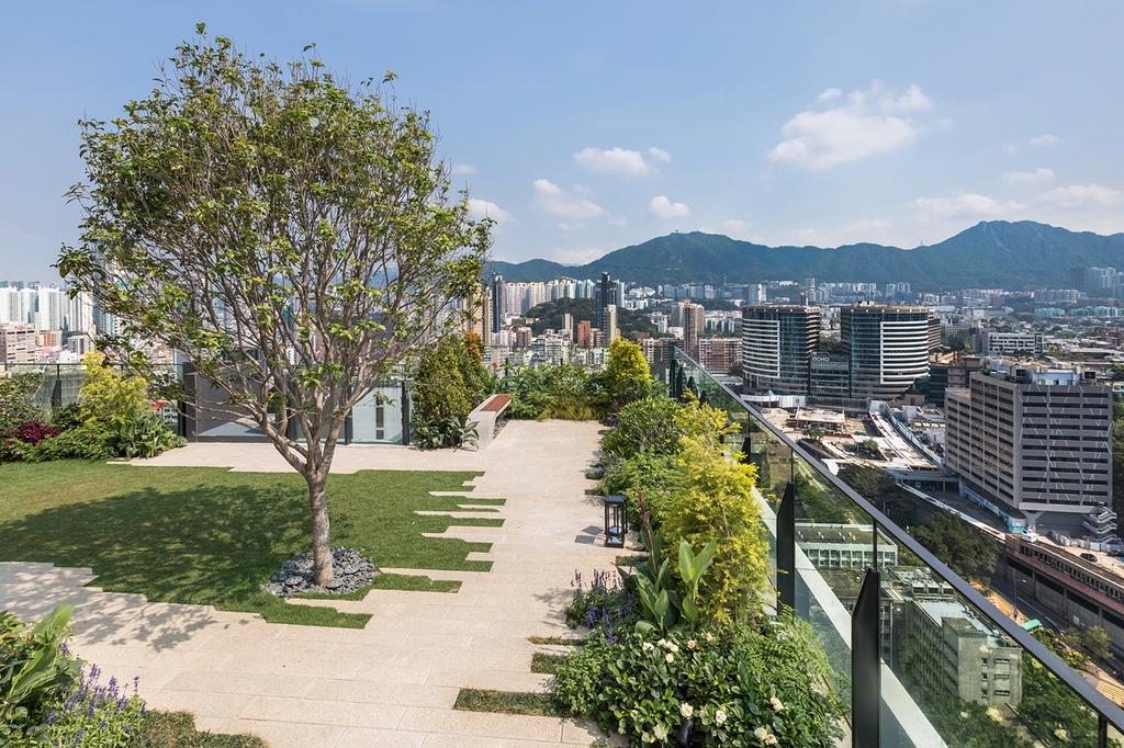 Концепт нового парка на крыше многоэтажки в Гонконге