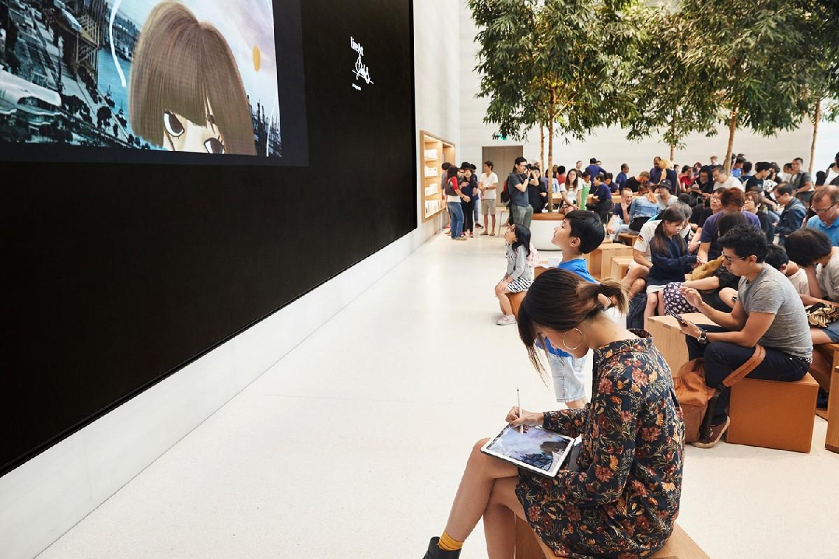 В Сингапуре открылся первый в Юго-Восточной Азии фирменный магазин Apple