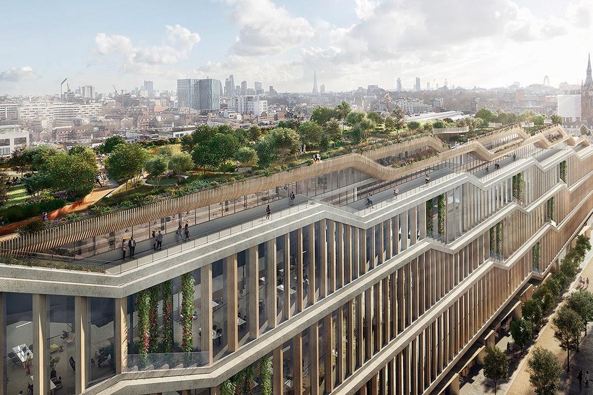 Дизайн новой гигантской штаб-квартиры Google в Лондоне