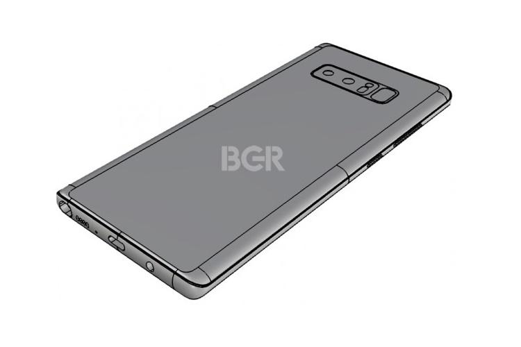 Новый рендер Samsung Galaxy Note 8 показал сканер отпечатков пальцев