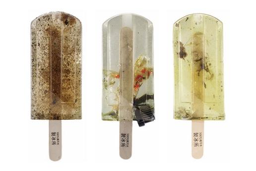 Загрязненные мороженки призваны привлечь внимание к проблемам с токсичностью воды в Тайване